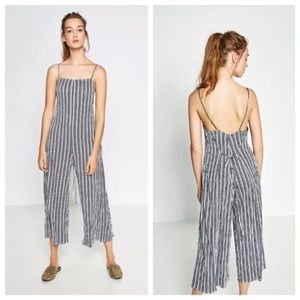 Zara Striped Jumpsuit 🖤💙